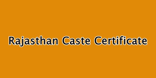 rajasthan caste certificate